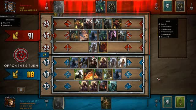 Watch Gentleman Pass GIF by KingNothing2000 (@kingnothing2000) on Gfycat. Discover more Gwent, Gwent Moments, Gwent: The Witcher Card Game, King, King Nothing, Moments, Nothing, Nothing but King Moments GIFs on Gfycat