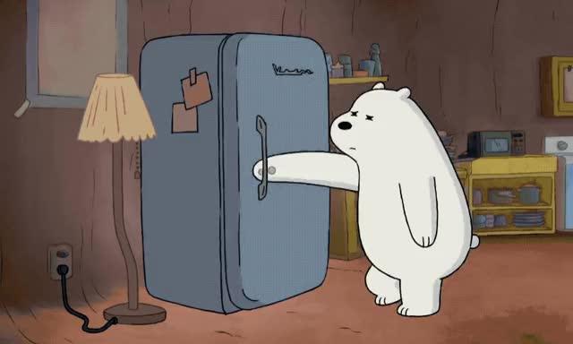 Watch this polar bear GIF by GIF Queen (@ioanna) on Gfycat. Discover more bare, bear, close, door, exhausted, fridge, good, good night, goodnight, ice, lights, lol, night, off, room, sleep, sleepy, tired, turn, zzz GIFs on Gfycat
