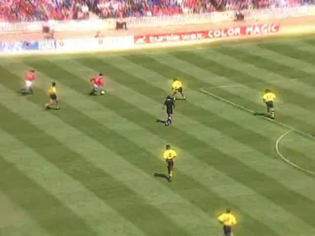 Watch 1993-94 01 Hughes (Charity Shield) GIF by @mu_goals on Gfycat. Discover more related GIFs on Gfycat