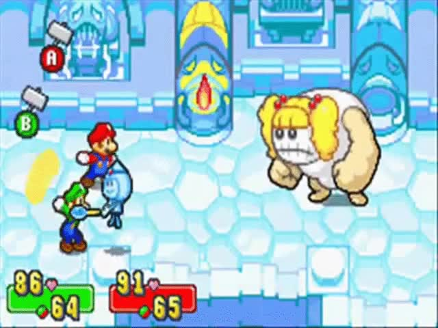 Watch and share Mario & Luigi: Superstar Saga - Bosses Chucklissa/Oholia/Hoohoolia/Teeheena (14) GIFs on Gfycat