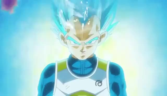 Watch and share Dragonball Super: Super Saiyan Cabba Vs Super Saiyan Blue Vegeta GIFs on Gfycat