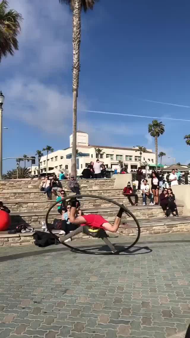 Flip over cyr wheel