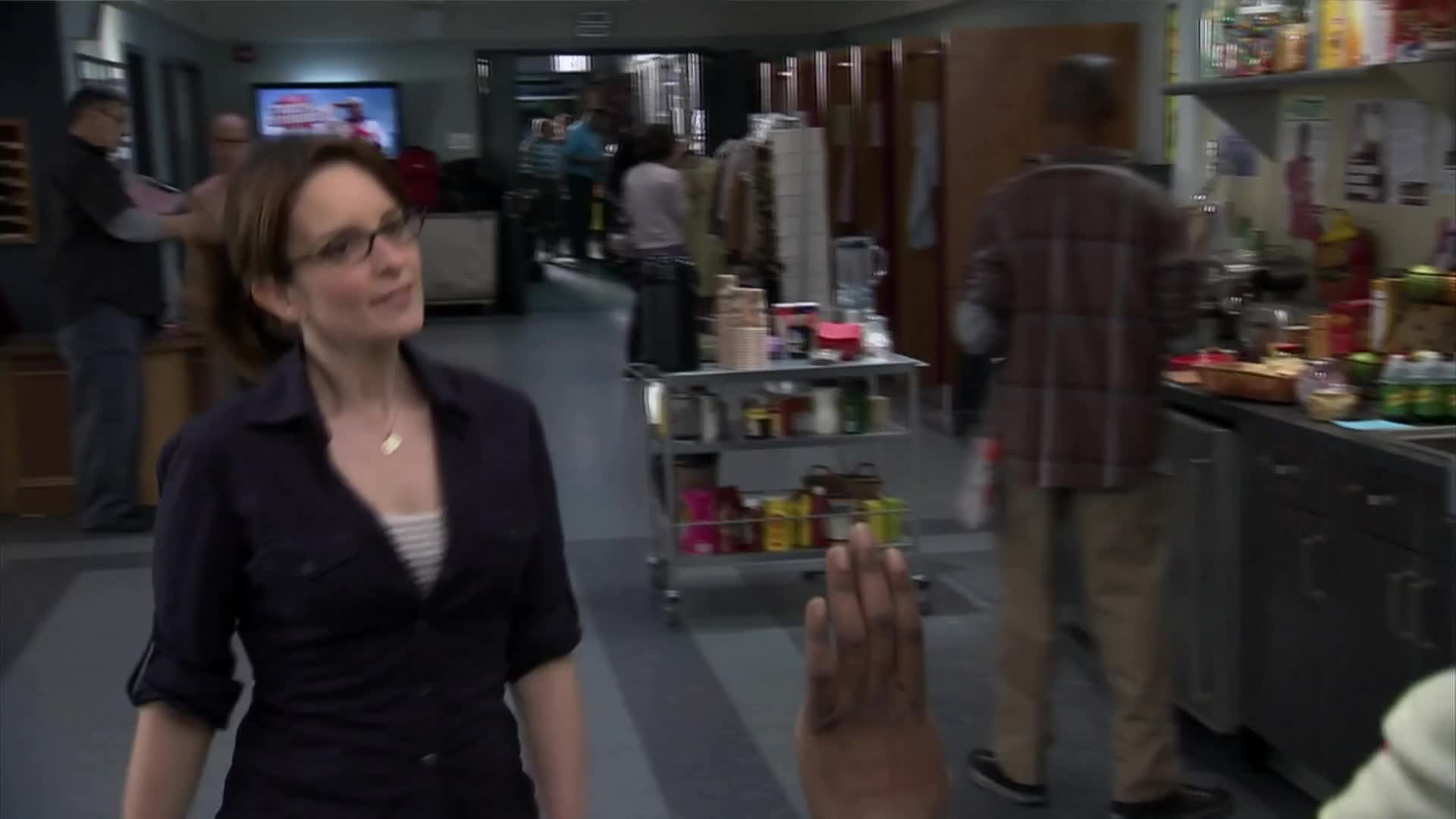 30 ROCK, D'Fwan, Jordan, Queen, S06E20, can't, celebs, come, easy, for, here, in, me, now, of, right, say, tina fey, tituss burgess, You can't come in here right now GIFs
