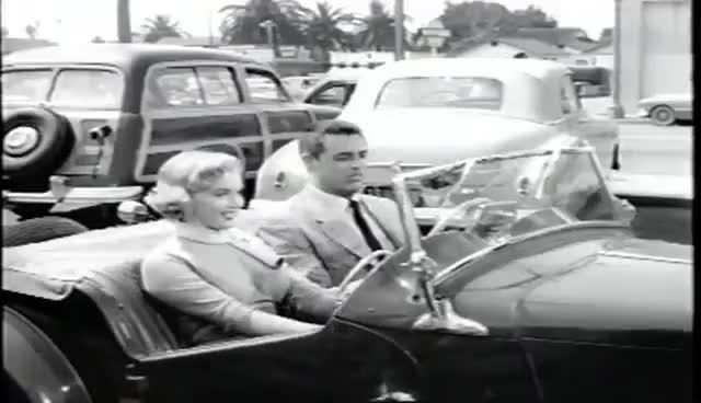 Watch Cary Grant - Marilyn Monroe Car Scene GIF on Gfycat. Discover more related GIFs on Gfycat