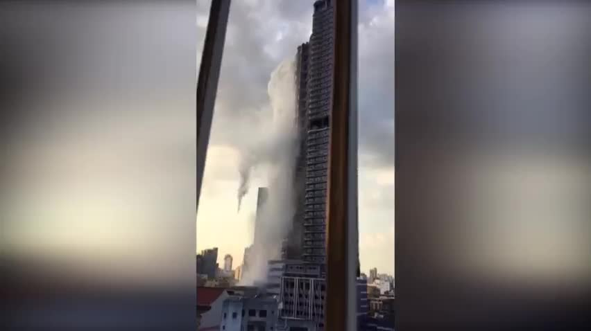 stainless, Liveleak.com - Tower makes it rain after a 5.6 earthquake GIFs