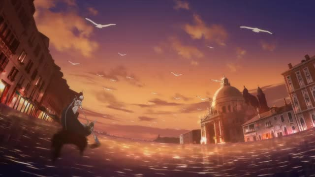 Watch Neo Venezia Sunset GIF by Hodor (@cantstophodoring) on Gfycat. Discover more anime GIFs on Gfycat