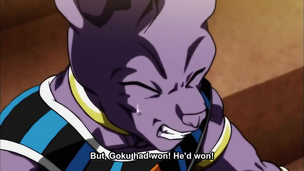 Goku loses ultra instinct dragon ball super episode 130 gif find make share gfycat gifs