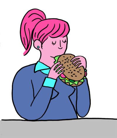 burger, cheeseburger, dinner, drinking, eat, eating, food, funny, girl, hair, hamburger, hungry, mess, messy, omg, pink, So hungry GIFs