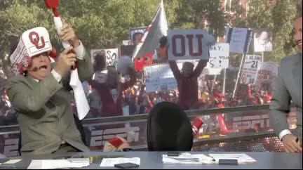 Watch and share Lee Corse Firing Ou Cannon Espn College Gameday Gifs animated stickers on Gfycat