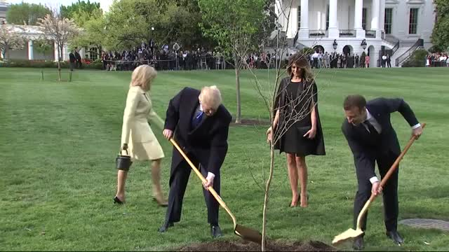 Watch this emmanuel macron GIF on Gfycat. Discover more Trumps and Macrons Plant Tree, district of columbia, donald trump, emmanuel macron, europe, france, france government, national, north america, politics, trumps and macrons plant tree, united states, western europe GIFs on Gfycat