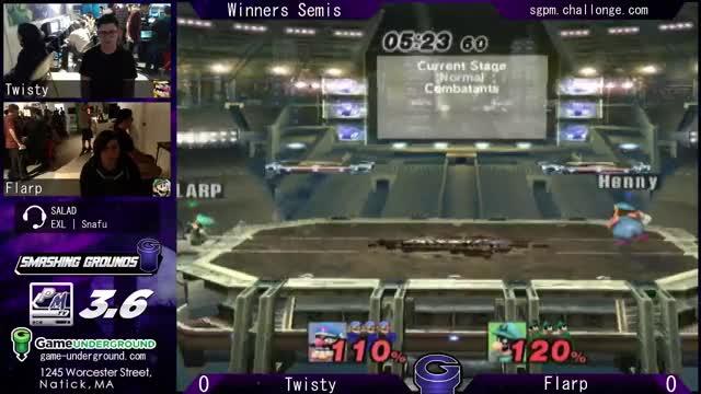 Watch SG at GU 14-5.2 WSF - Twisty (Wario) vs. Flarp (Luigi) GIF on Gfycat. Discover more smashcast, smashcastlive, upload GIFs on Gfycat
