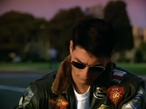 I Can't Hear You - Top Gun you tom cruise celebs can't, hear, top, gun, motorcycle, funny GIF