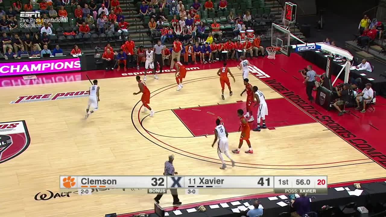 clemson, tigers, xavier, 2016-17 College Basketball: Clemson vs. (#11) Xavier (Full Game) GIFs