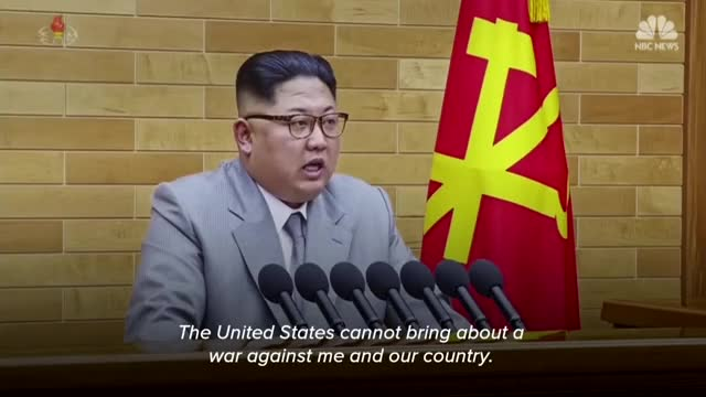 Watch The Nuclear Button Is On My Table, Kim Jong Un Says | NBC News GIF on Gfycat. Discover more Asia, Desk Video, Kim Jong Un, NBC News, News, North Korea, Nuclear war, Pyeongchang, World GIFs on Gfycat