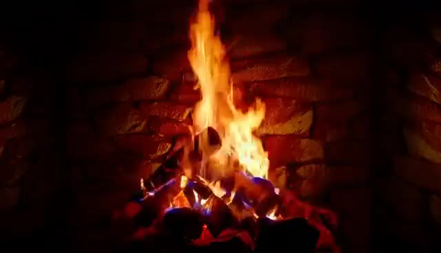 Watch and share 4K Relaxing Fireplace With Crackling Fire Sounds GIFs on Gfycat