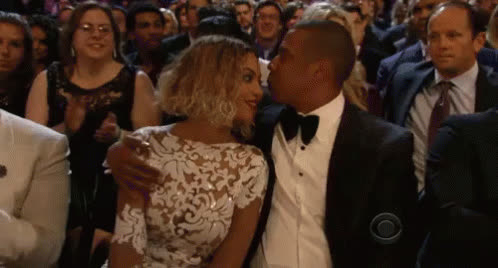 jay z, shawn carter, Jay Z And Beyonce Kiss GIFs