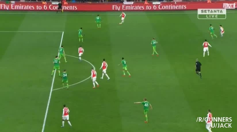 HighlightGIFS, highlightgifs, Ramsey's goal vs. Sunderland (reddit) GIFs