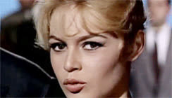 Brigitte Bardot, flirt, french, sexy, wink, Brigitte Bardot GIFs