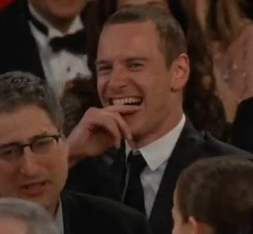 Watch and share Michael Fassbender GIFs and Laughing GIFs by Reactions on Gfycat