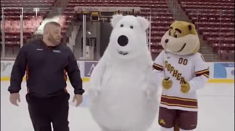 White Bear Mitsubishi >> White Bear Mitsubishi Mascot On Ice Just Can T Get It