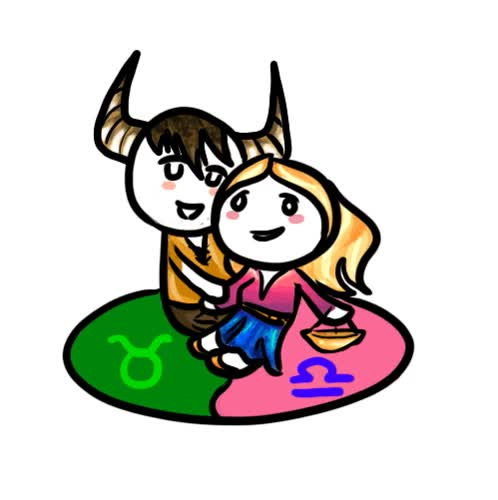 Watch and share Animated Gif, Zodiac Pairs Animated Gifs Couple Libra With Aries GIFs on Gfycat