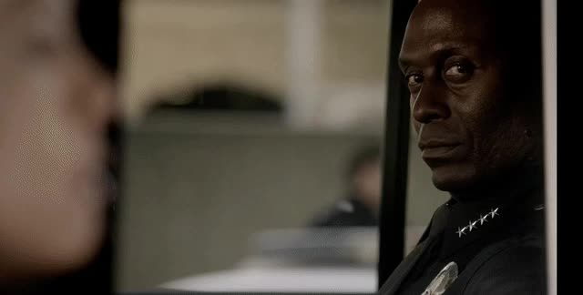 awesome, bosch, irvin irving, lance reddick, prime video, reactiongif, shade, television, Cold-blooded Irvin Irving glare in Bosch GIFs