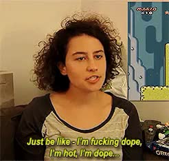 Watch Daily Ilana Glazer GIF on Gfycat. Discover more Broad City, Chronic Gamer Girl, also so cool because she does this, and i luv her for that, and i wish i could do it as well as her, and it works, but i'm getting there, cgg, ilana glazer, myedit, one of my fav moments of one of my favs, pretty sure i posted this before but here we go GIFs on Gfycat