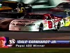 "Watch and share Fyeahnascar: "" Gif Set: Tbt - Dale Earnhardt Jr Wins The 2001 Pepsi 400! "" GIFs on Gfycat"