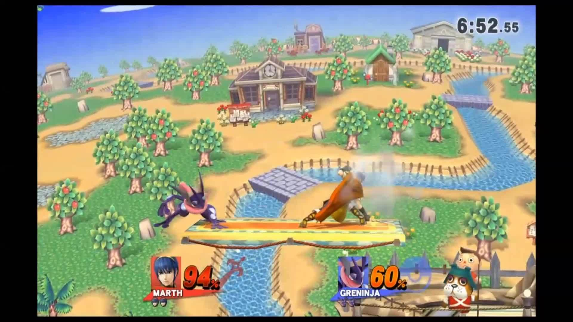 Greninja, marth, sm4sh, Still cant believe he teched that shit. GIFs