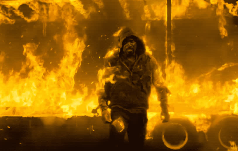 cage, fire, flames, get, heat, hero, hot, luke, luke cage, netflix, new, of, on, on fire, out, season, sexy, superhero, tough, unbreakable, Luke Cage is tough GIFs