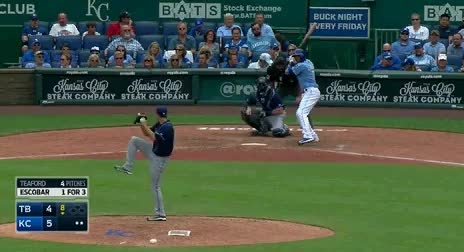 Watch and share Alcides Escobar Bunt Double GIFs by jsulliv6 on Gfycat