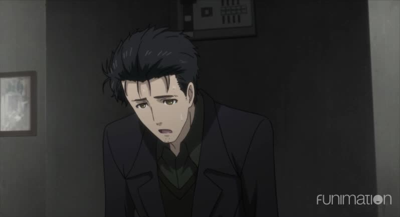 anime, funimation, sci-fi, scifi, steins gate, steins gate 0, steins;gate, steins;gate episode 12, steinsgate, steinsgate 0, out of breath Okabe GIFs