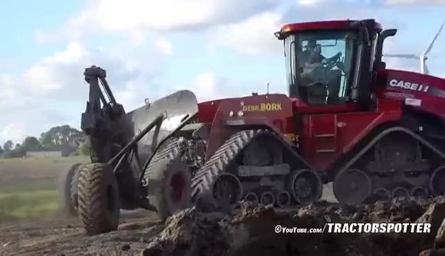 Watch Deep ploughing & Field Leveling | CASE IH Quadtrac 450 & STX 375 | Gebr. Bork diepploegen / Plowing GIF on Gfycat. Discover more related GIFs on Gfycat