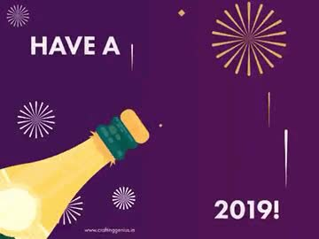 Watch and share CraftingGenius-New-Year-Greetings-2019 GIFs on Gfycat