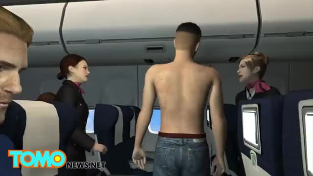 Watch Man urinates on passenger aboard Air Mediterranee flight and is tackled by crew - TomoNews GIF on Gfycat. Discover more tomonews GIFs on Gfycat