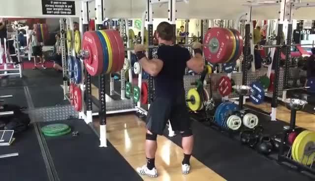 Dmitry Klokov 250kg paused squat - Training For Strength Sports Perth GIFs