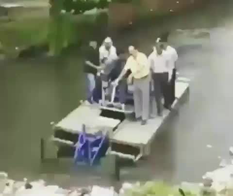 If we try out our all-terrain boat with all of us on it GIFs