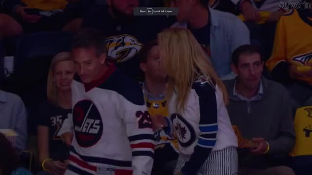 Watch Jets fans celebrating during the Jets-Preds game, April 27th 3018 GIF on Gfycat. Discover more bad dancing, hockey, whitepeoplegifs GIFs on Gfycat