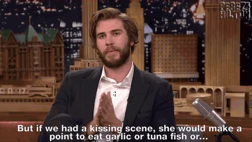 Watch and share Celebs With Notoriously Bad Hygiene Gross Jennifer Lawrence Liam Hemsworth animated stickers on Gfycat
