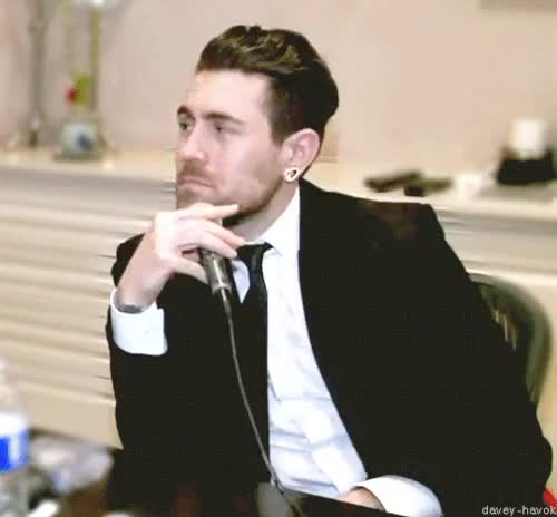 Watch and share Davey Havok GIFs and Interviews GIFs on Gfycat
