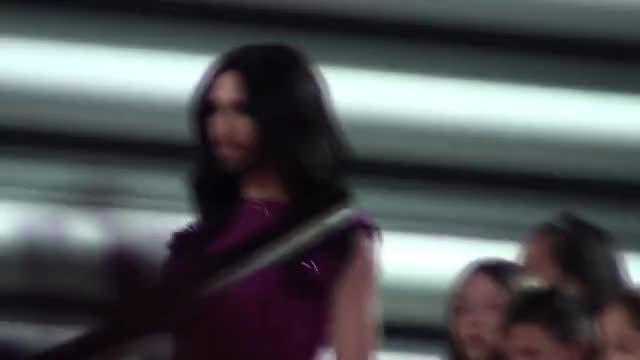 Watch and share ESC2015 Conchita Wurst Flies In Vienna GIFs on Gfycat