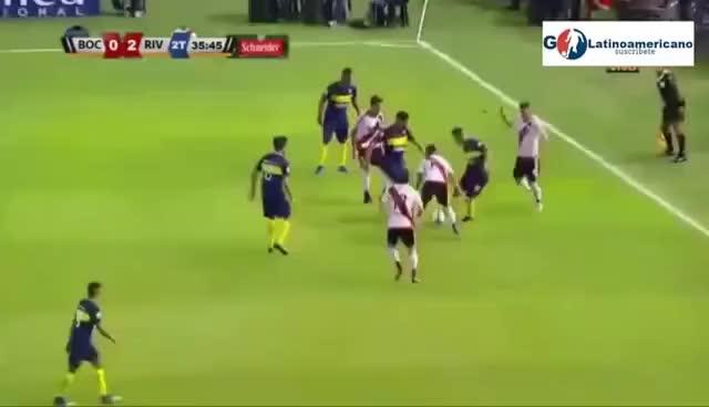 Watch and share River Plate Vs Boca Juniors 2-0 - Goles & Pelea - 28/Enero/2017 - Super Clasico 2017 GIFs on Gfycat