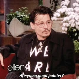 Watch and share Johnny Depp GIFs and Ellen GIFs by Reactions on Gfycat