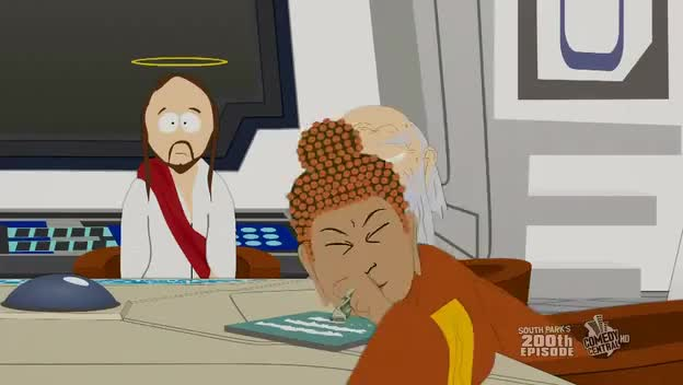 South Park: Buddha Doing Coke - 200th Episode