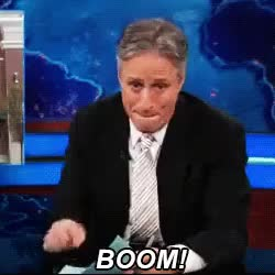 Watch and share Jon Stewart GIFs and Boom GIFs on Gfycat