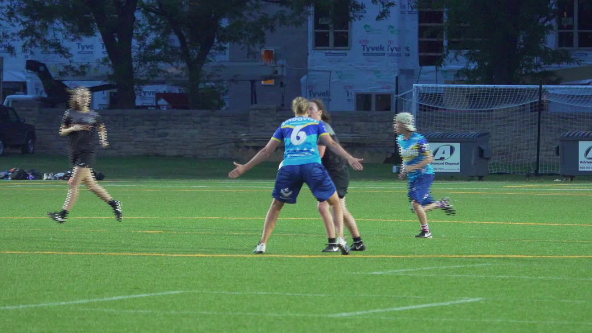 american ultimate disc league, audl, ultimate, ultimate frisbee, Robyn Wiseman Layout Goal GIFs