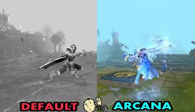 Watch and share Frost Avalanche Crystal Maiden Arcana Custom Animation Preview Dota 2 GIFs on Gfycat