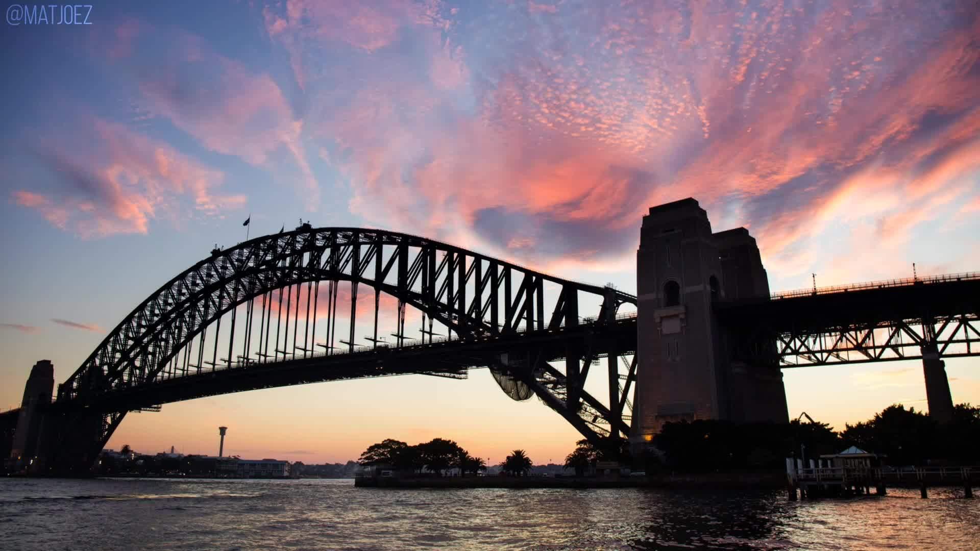 australia, cloudporn, matjoez, Sunset in Sydney GIFs