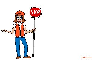 Watch Animation: Female road worker drops stopsign GIF on Gfycat. Discover more related GIFs on Gfycat
