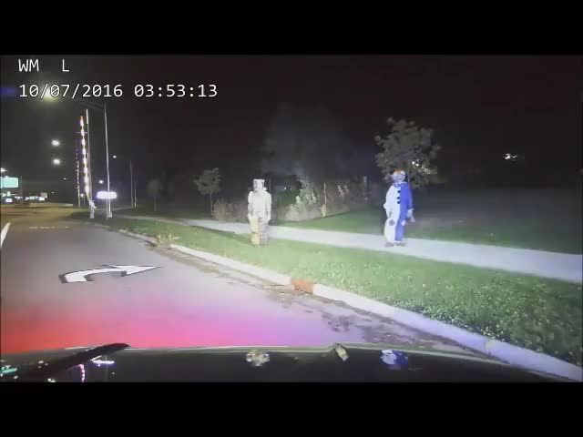 Watch and share Dashcam Shows Creepy Clown Arrest GIFs by Beef on Gfycat